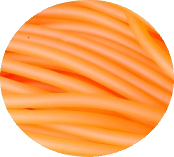Lot de 50 metres de cordon creux PVC orange-3mm